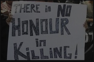 There is no honor in killing poster